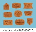 set of leather patch for denim... | Shutterstock .eps vector #1871006890