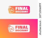 final discount shopping vector... | Shutterstock .eps vector #1871006899