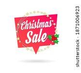 christmas sale shopping vector... | Shutterstock .eps vector #1871006923