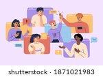 concept of virtual video... | Shutterstock .eps vector #1871021983