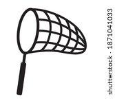 butterfly net for catching bugs ...   Shutterstock .eps vector #1871041033