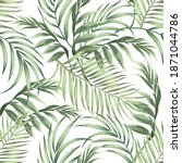 jungle vector pattern with... | Shutterstock .eps vector #1871044786