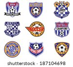 Football Soccer Badges, Patches and Emblem Vector Set