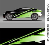 full color car wrap stickers | Shutterstock . vector #1871058400