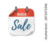 winter sale. realistic calendar ... | Shutterstock .eps vector #1871072506