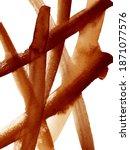 watercolor brown grunge brush... | Shutterstock . vector #1871077576
