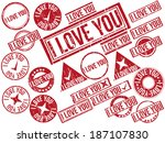 collection of 22 red grunge...