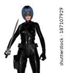 female fencer | Shutterstock . vector #187107929