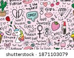 beautiful drawings and...   Shutterstock .eps vector #1871103079