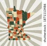 Minnesota Vintage Map. Grunge...