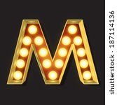 marquee light letter   vector   ...   Shutterstock .eps vector #187114136