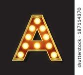 marquee light letter   vector   ... | Shutterstock .eps vector #187114370