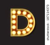 marquee light letter   vector   ...   Shutterstock .eps vector #187114373