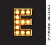 marquee light letter   vector   ... | Shutterstock .eps vector #187114379