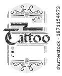 tattoo studio vintage poster... | Shutterstock . vector #1871154973