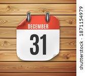 december 31 calendar icon on... | Shutterstock . vector #1871154979