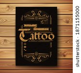 vintage poster for a tattoo... | Shutterstock . vector #1871155000