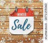 winter sale. realistic calendar ... | Shutterstock . vector #1871155060