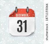 december 31 calendar icon on... | Shutterstock . vector #1871155066