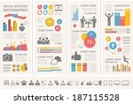 social media infographic... | Shutterstock .eps vector #187115528