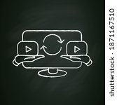 video sharing chalk icon. sign...   Shutterstock .eps vector #1871167510
