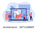 people taking documents from... | Shutterstock .eps vector #1871168869