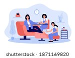 lady visiting beauty salon for... | Shutterstock .eps vector #1871169820