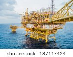 oil platform on the sea | Shutterstock . vector #187117424