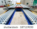 back view of tow carrier truck | Shutterstock . vector #187119050