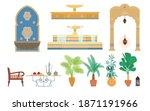 arabian palace garden elements...   Shutterstock .eps vector #1871191966