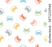 seamless car pattern. cute...   Shutterstock .eps vector #1871210566