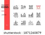 world famous landmarks   line... | Shutterstock .eps vector #1871260879
