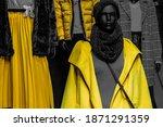 Yellow And Gray Fashion...