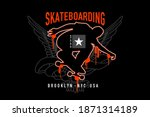 sk8. extreme sport slogan with... | Shutterstock .eps vector #1871314189
