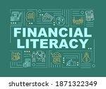 financial literacy word... | Shutterstock .eps vector #1871322349