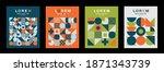 combination of figures design... | Shutterstock .eps vector #1871343739