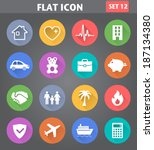 vector application insurance... | Shutterstock .eps vector #187134380