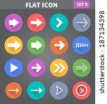 vector application arrow icons...
