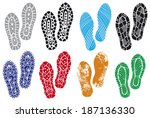 the collection of a imprint... | Shutterstock .eps vector #187136330