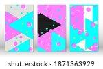 set of memphis patterns.... | Shutterstock .eps vector #1871363929