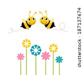 Cute Beautiful Bees With...