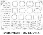 calligraphic design elements.... | Shutterstock .eps vector #1871379916