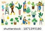 vector set of village people... | Shutterstock .eps vector #1871395180