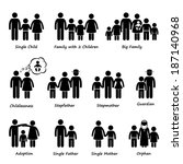 family size and type of... | Shutterstock .eps vector #187140968