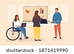inclusive workplace concept.... | Shutterstock .eps vector #1871419990