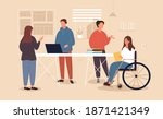 inclusive workplace concept.... | Shutterstock .eps vector #1871421349
