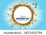 indian army parade  indian... | Shutterstock .eps vector #1871421796