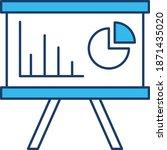 presentation board  vector icon    Shutterstock .eps vector #1871435020