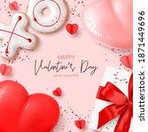 happy valentine's day card....   Shutterstock .eps vector #1871449696