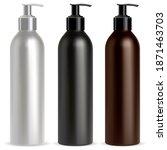 pump bottle. dispenser cosmetic ...   Shutterstock .eps vector #1871463703